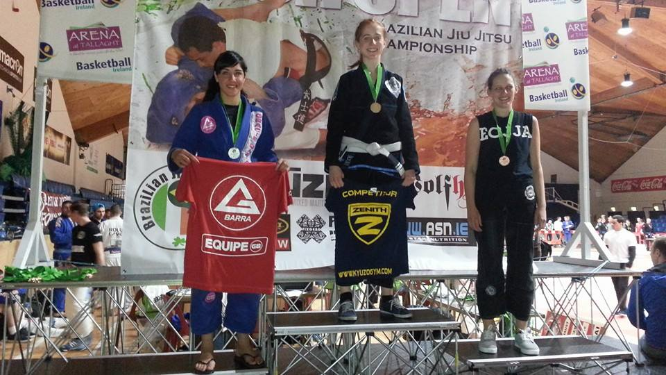 Jess on the podium at the Irish Open