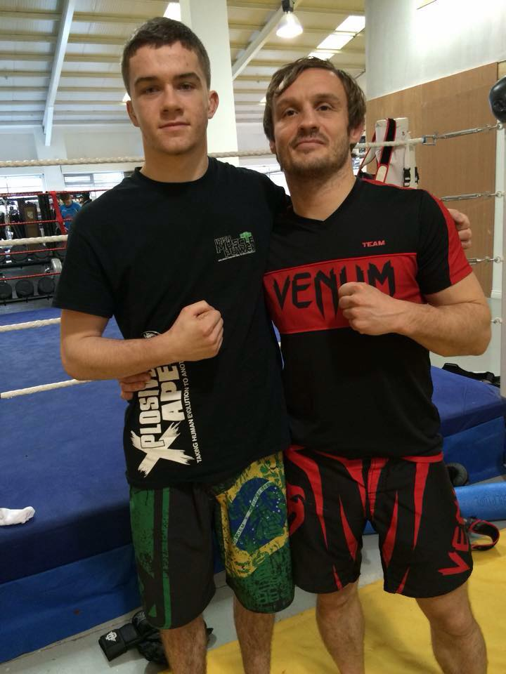 """Nathan Kelly with Brad """"One Punch"""" Pickett, 25/1/2015"""