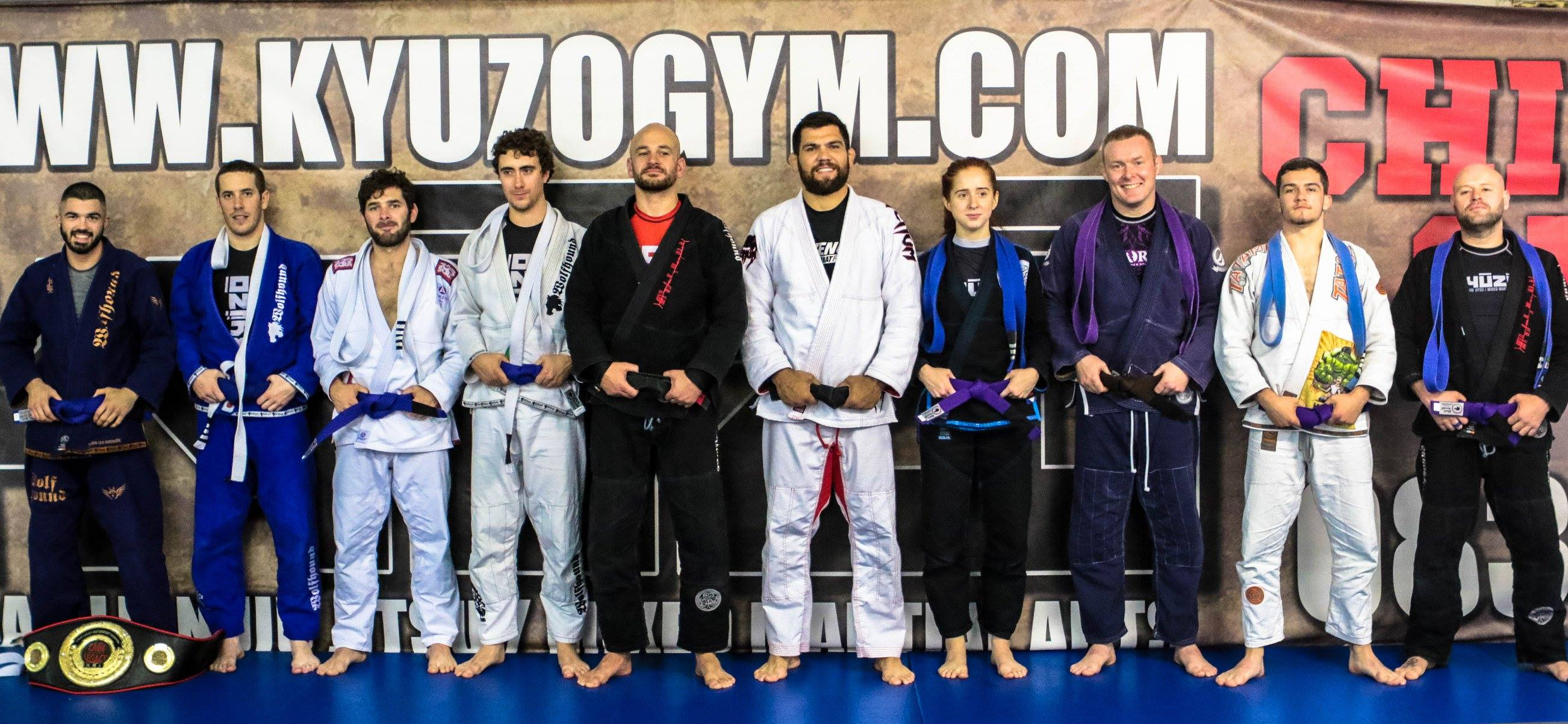 Our new BJJ belts with Black Belts Barry Oglesby and Robert Drysdale